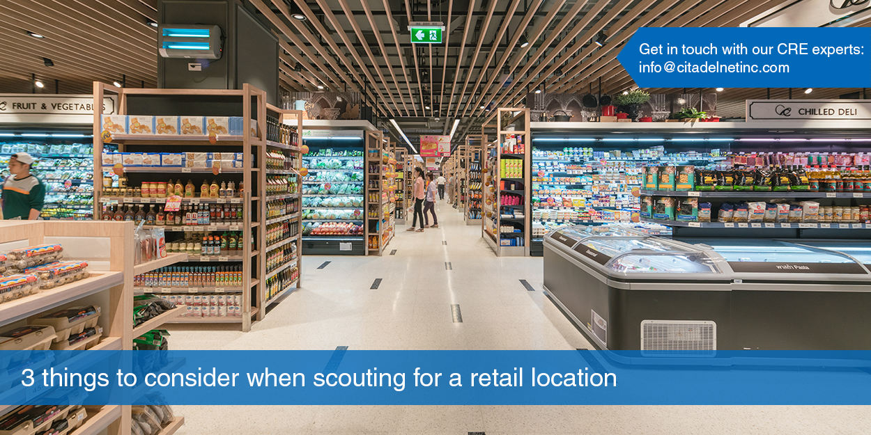 3 Things to Consider when Scouting for a Retail Location