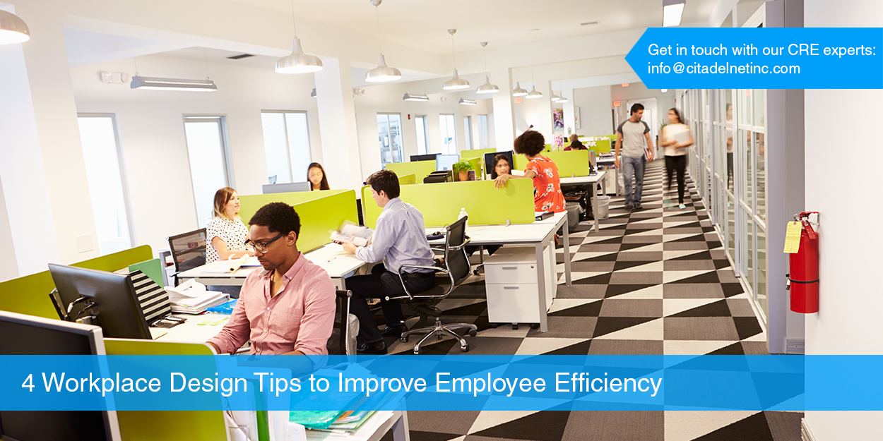 4 Workplace Design Tips to Improve Employee Efficiency