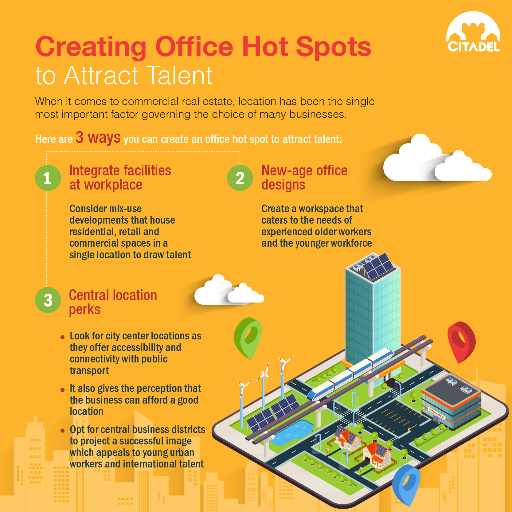 Creating office hot spots to attract talent