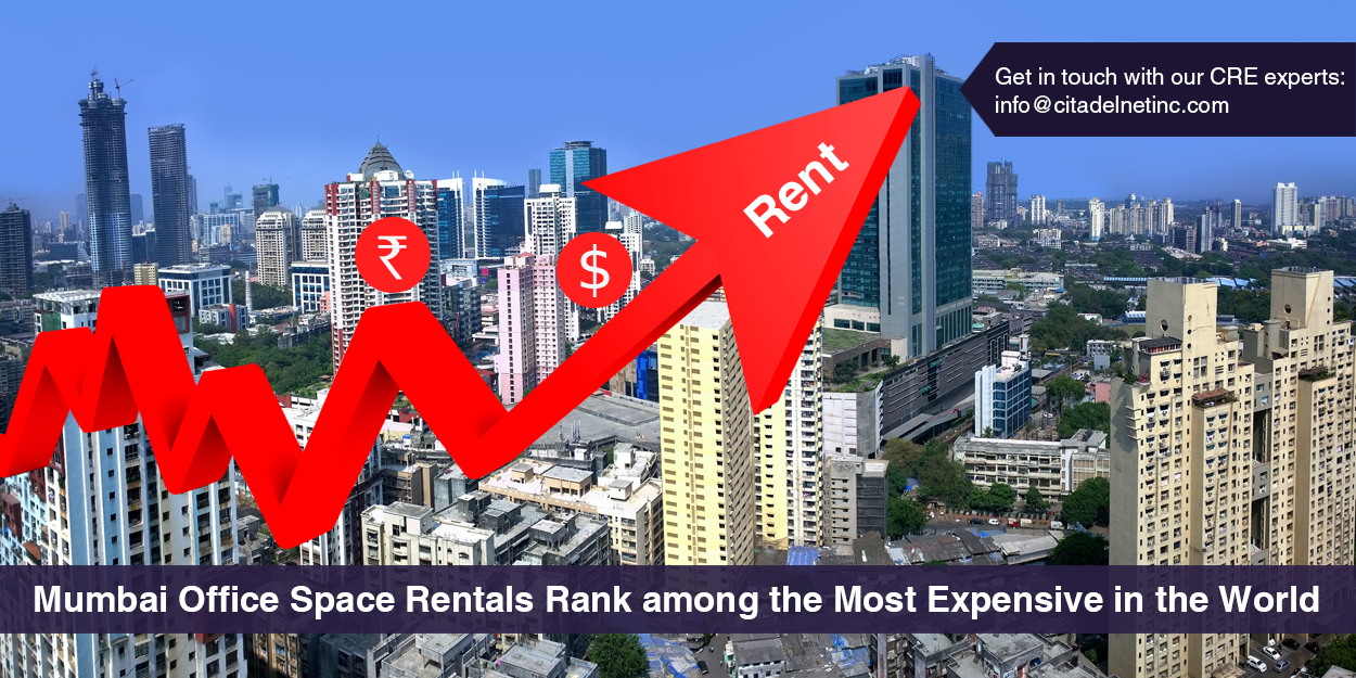 Is renting an office in Mumbai high-rise costlier than Dubai