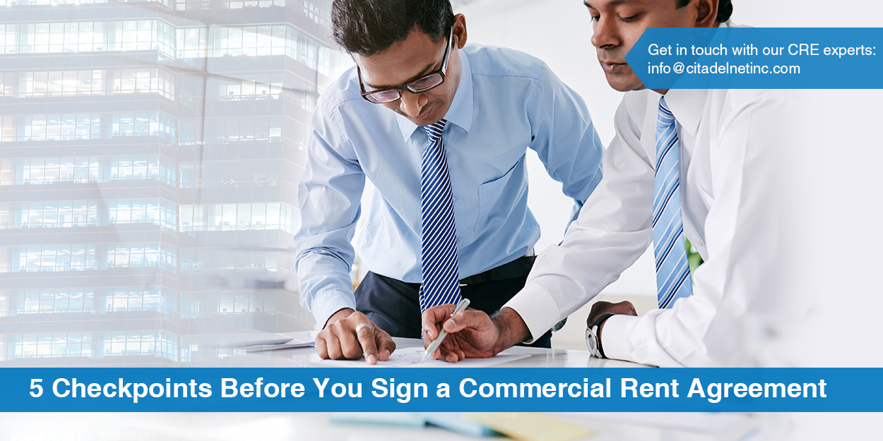 checkpoints before you sign a commercial rent agreement