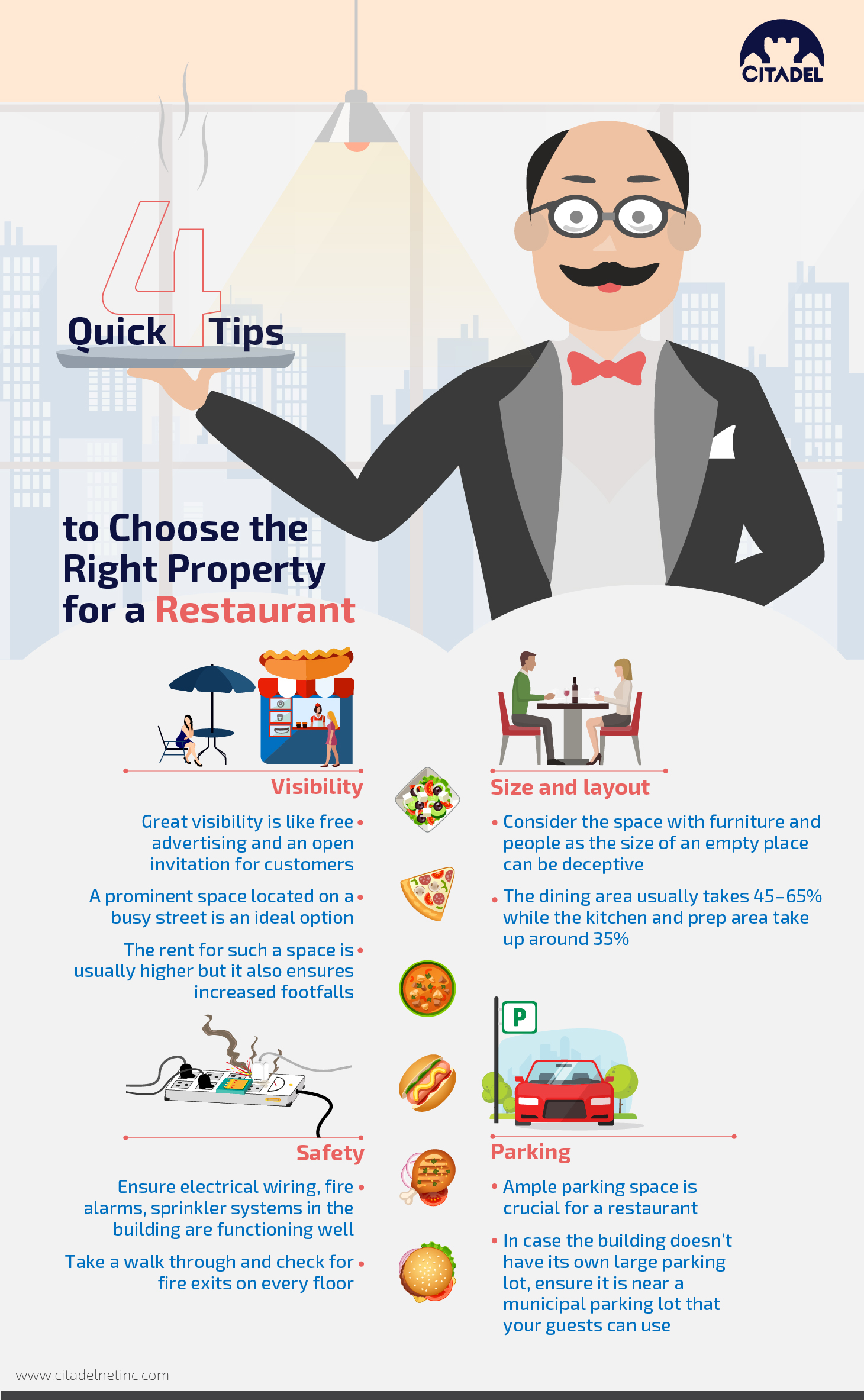 4 QUICK TIPS TO CHOOSE THE RIGHT PROPERTY FOR A RESTAURANT